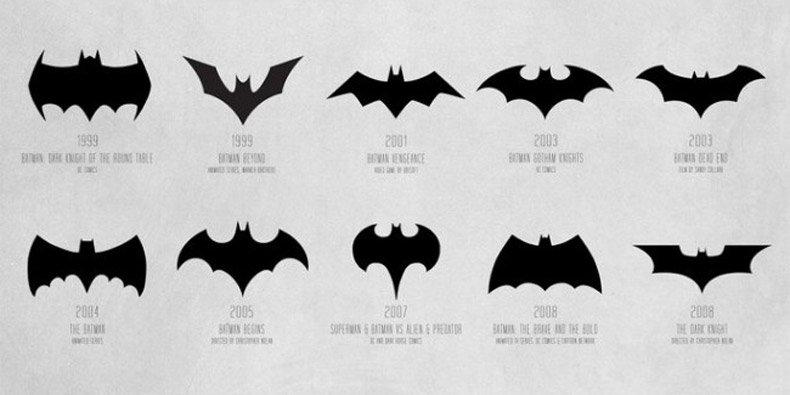 A Evolução Do Símbolo Do Batman Em 30 Designs