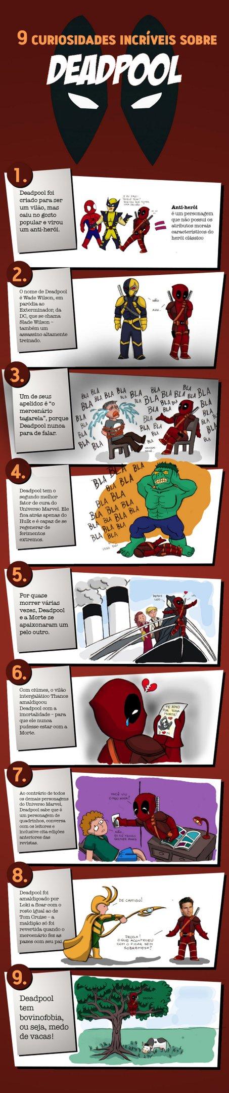 9 curiosidades incríveis sobre Deadpool [infográfico]