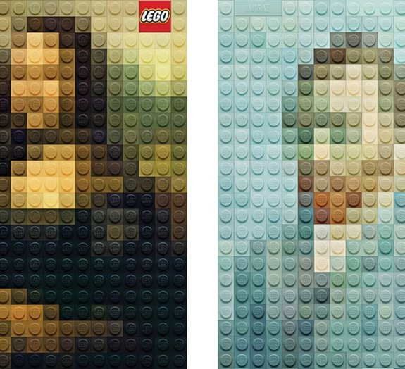 Desafio: você consegue identificar quais são esses quadros feitos de LEGO?