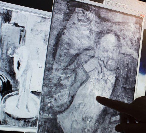 """Pintura secreta de Picasso é revelada no quadro """"O Quarto Azul"""""""