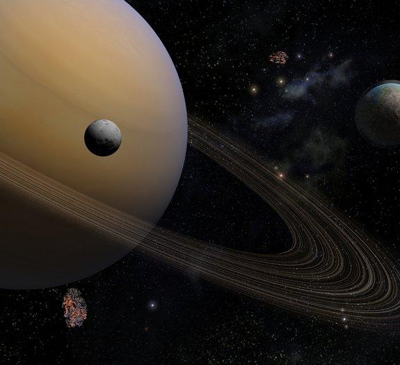 Oceano de Titã, lua de Saturno, pode ser tão salgado quanto o Mar Morto