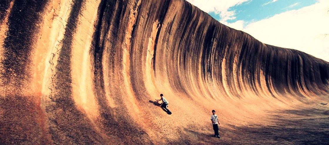 Mais uma da Austrália: sabia que existe uma onda gigante feita de rocha?