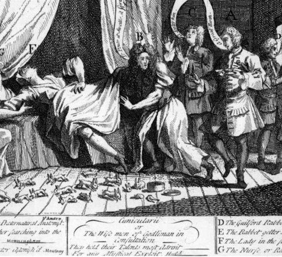 Conheça a bizarra história da mulher que dava à luz coelhos no século 18