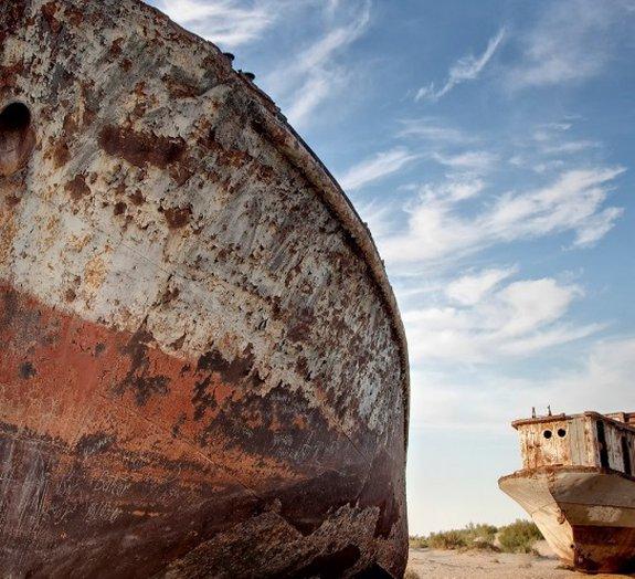 Assustador: imagens de satélite mostram desaparecimento do Mar de Aral