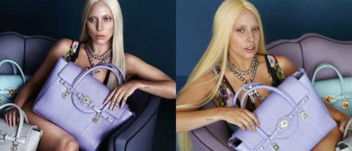 Antes e depois do Photoshop: Lady Gaga em campanha para Versace