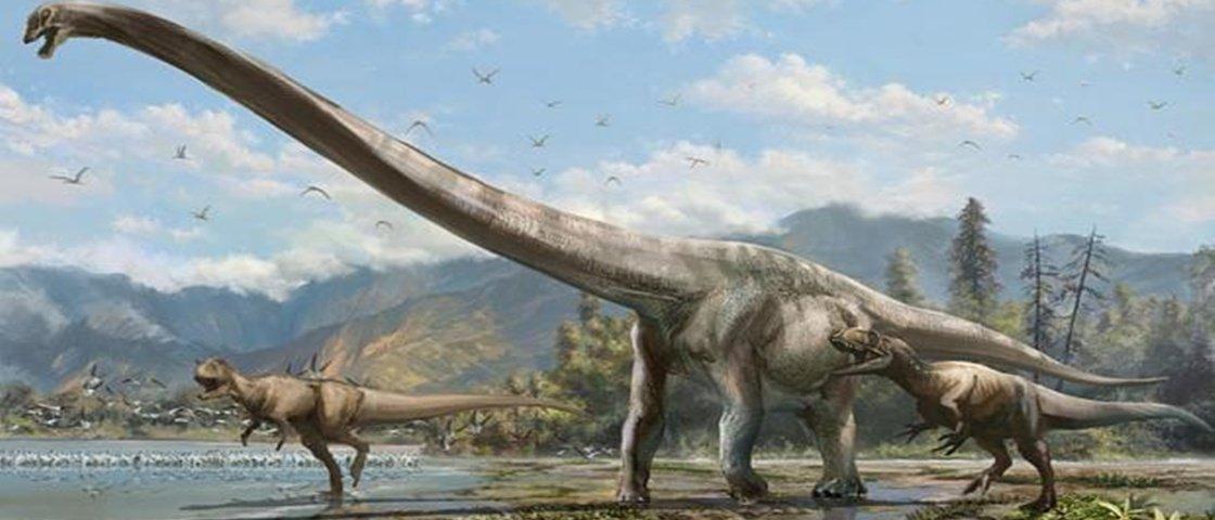 Descoberta na China nova espécie de dinossauro com pescoço comprido