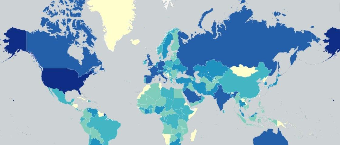 Mapa interativo: quantos imigrantes vivem no seu país?