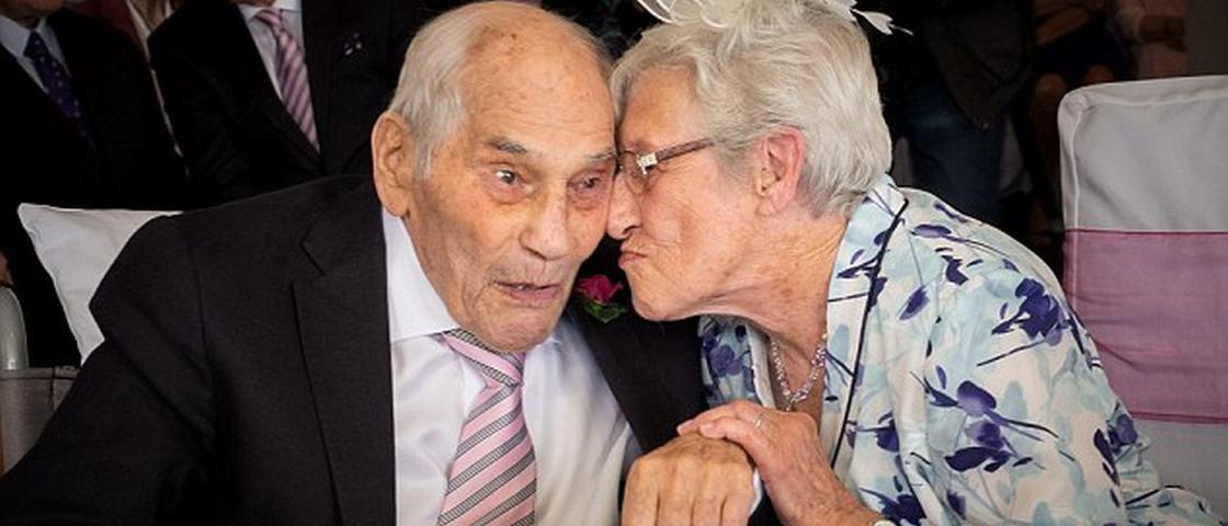 Casal entra para o Guinness como os noivos mais velhos do mundo