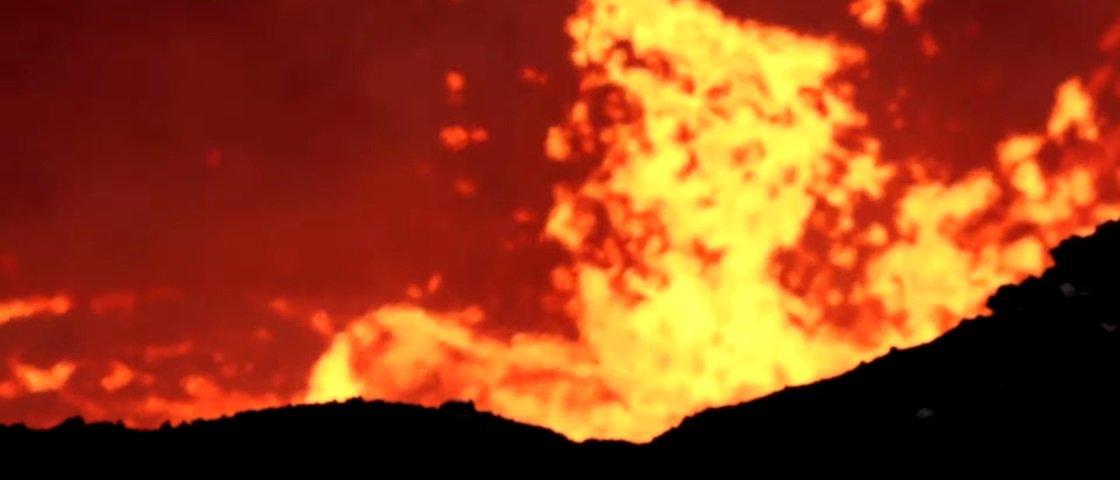 Confira de perto o poder das erupções vulcânicas em vídeos impressionantes