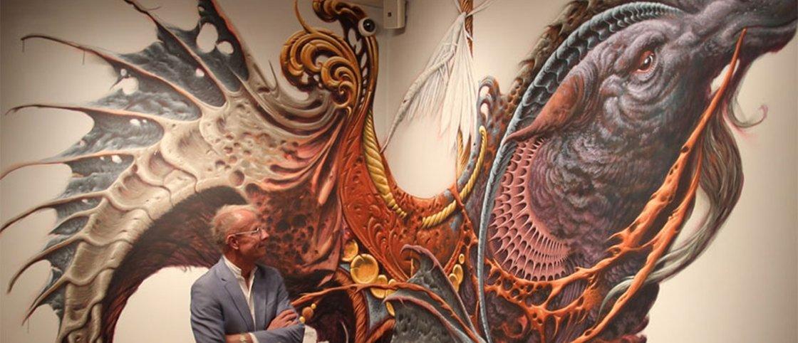 Artistas pintam livremente paredes de museu e o resultado é impressionante