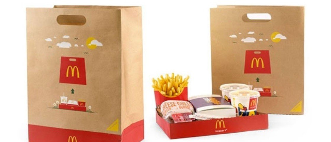 Novidade no McDonald's: é um saco de papelão, mas também é uma bandeja