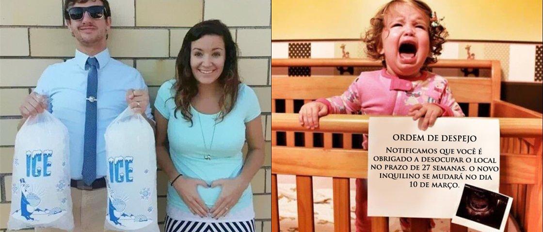 13 maneiras criativas de anunciar uma gravidez