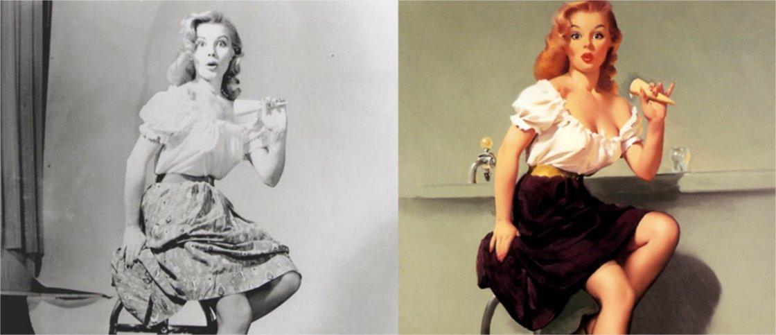As verdadeiras mulheres por trás das ilustrações de pin-ups