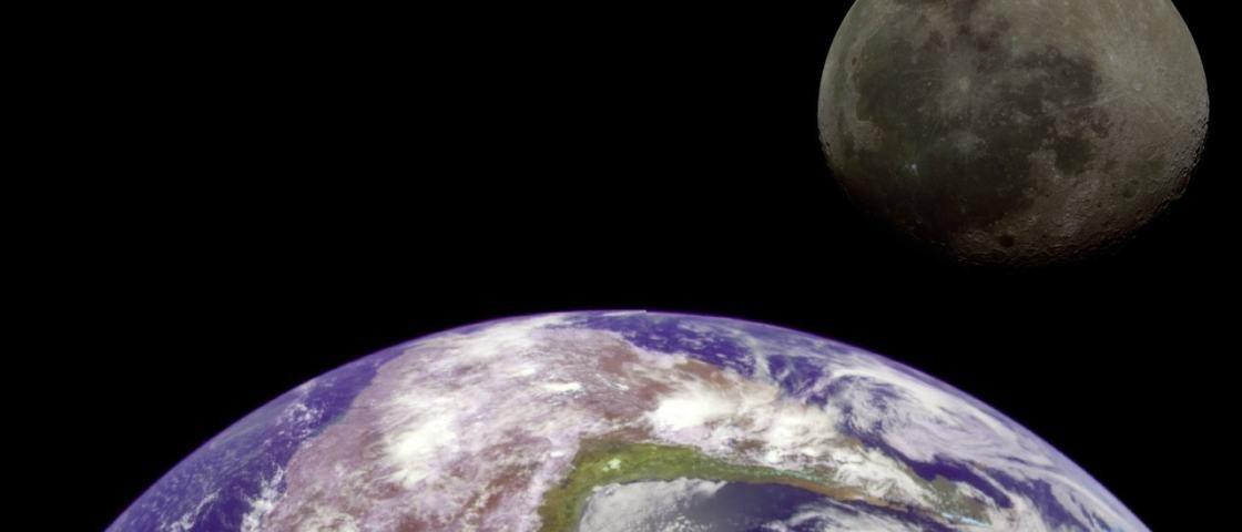 Dança cósmica: a Terra está ajudando a Lua a diminuir