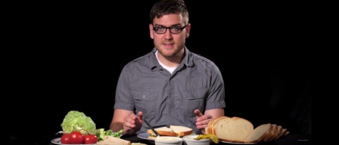 Homem gasta US$ 1,5 mil e leva 6 meses para produzir um sanduíche