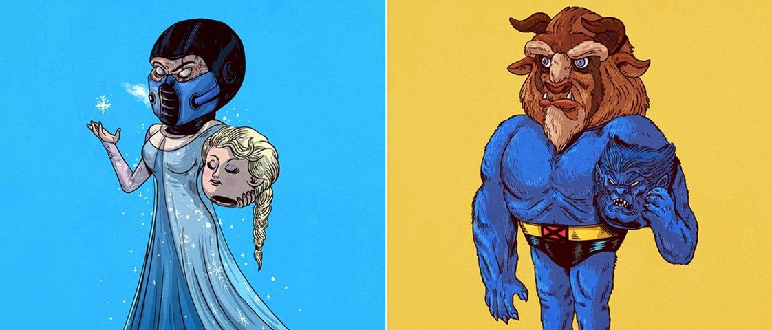 Ilustrador revela quem está por trás de famosos personagens