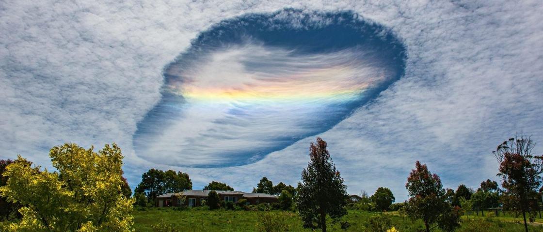 Fotógrafo registra fenômeno raro em que o pedaço de uma nuvem acaba caindo