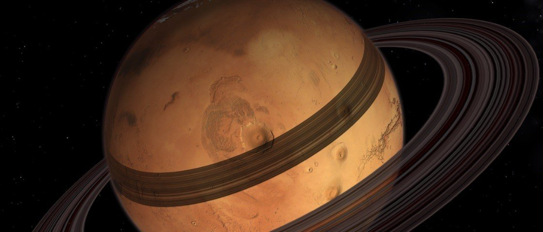 Marte poderá se tornar um planeta com anéis, como Saturno