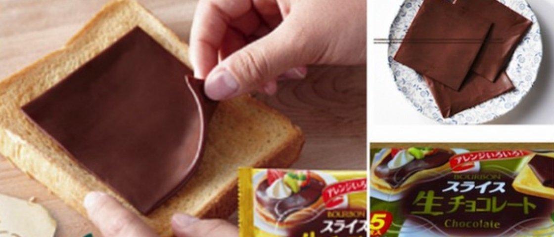 Pare tudo! Agora os japoneses criaram chocolate em fatias