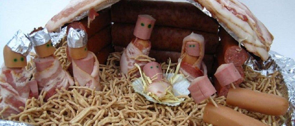 Faltou inspiração para a decoração natalina? Confira 35 presépios malucos