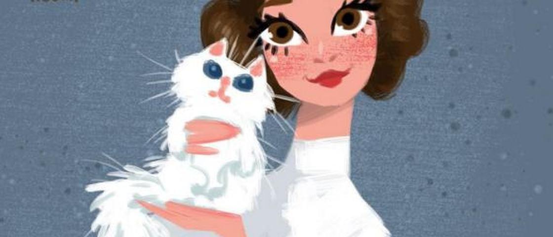 Como seria se personagens de Star Wars adotassem gatinhos?