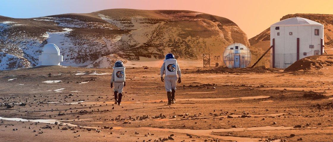 Cientistas descobrem método simples para fazer concreto em Marte