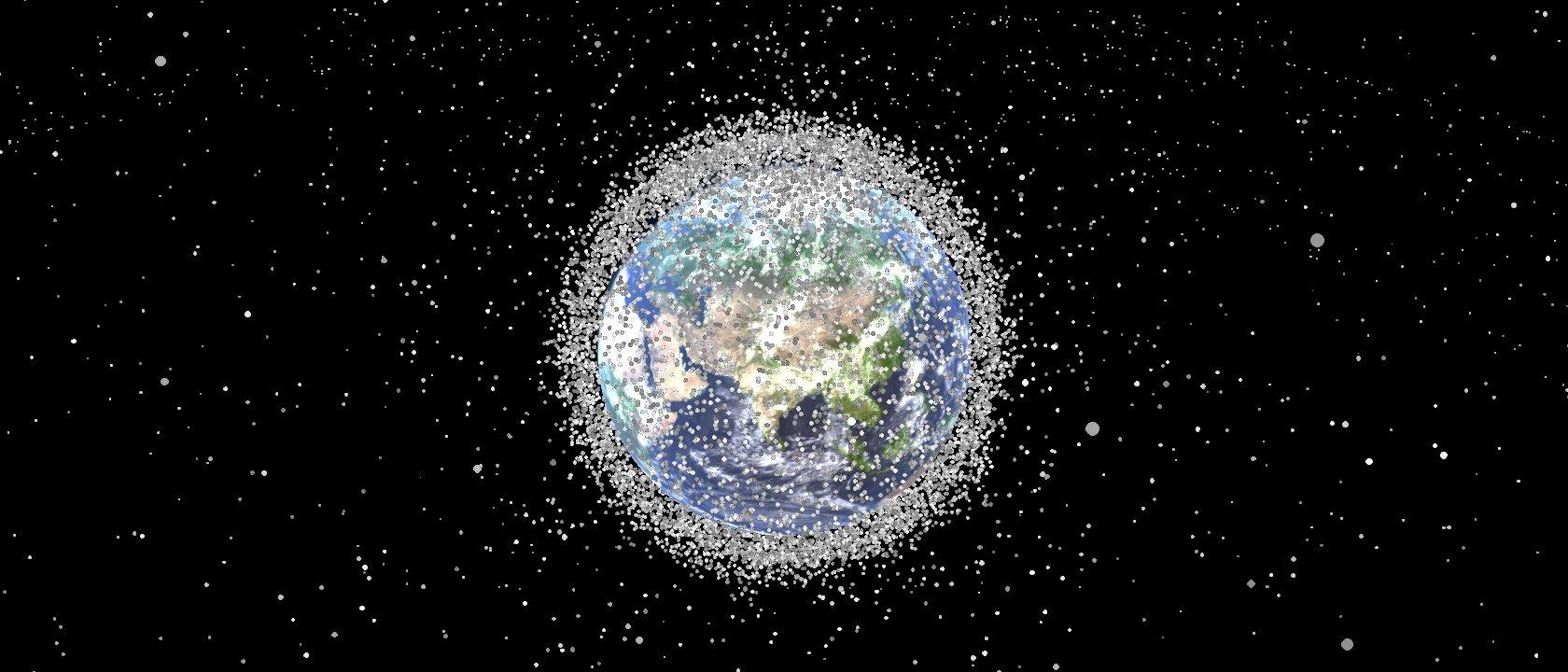 Simulação incrível mostra como a Terra está cercada por detritos espaciais