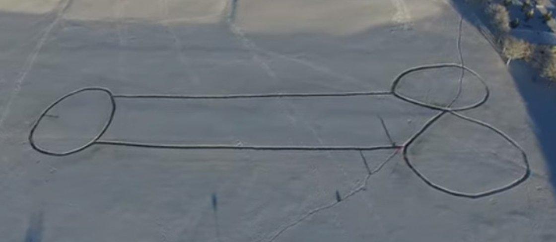 O pênis de neve que criou polêmica em uma cidade na Suécia