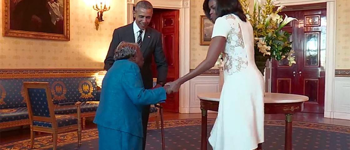 Vovó de 106 anos botou pra quebrar na Casa Branca e viralizou no Facebook