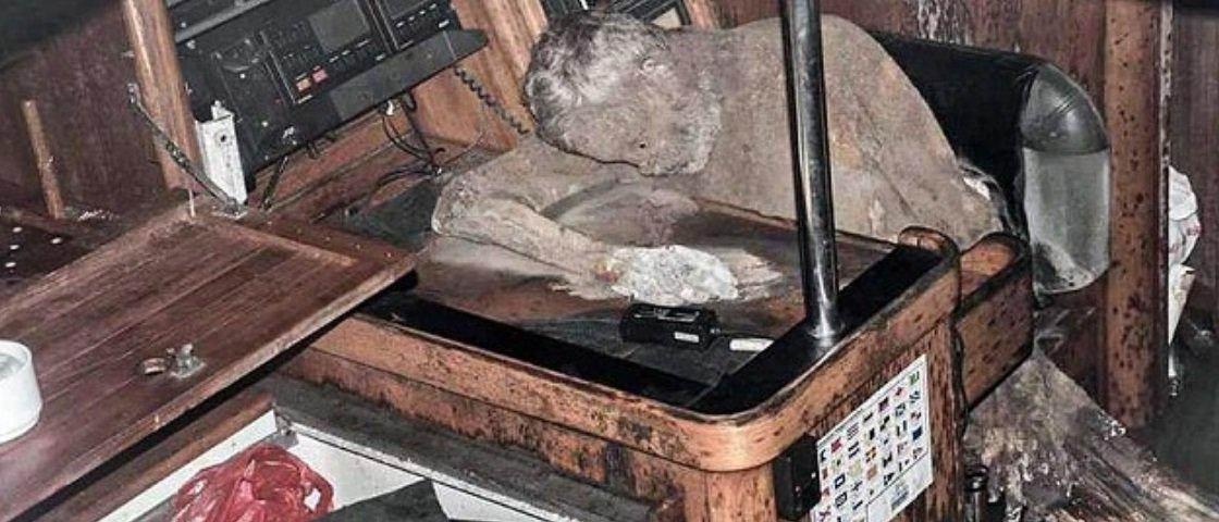A história intrigante do homem encontrado mumificado em um barco naufragado