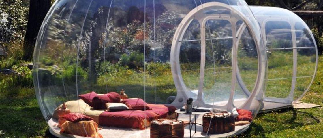 Você já sonhou em acampar com o maior luxo e conforto do mundo?