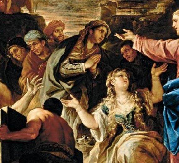 A Ressurreição de Lázaro, por Luca Giordano
