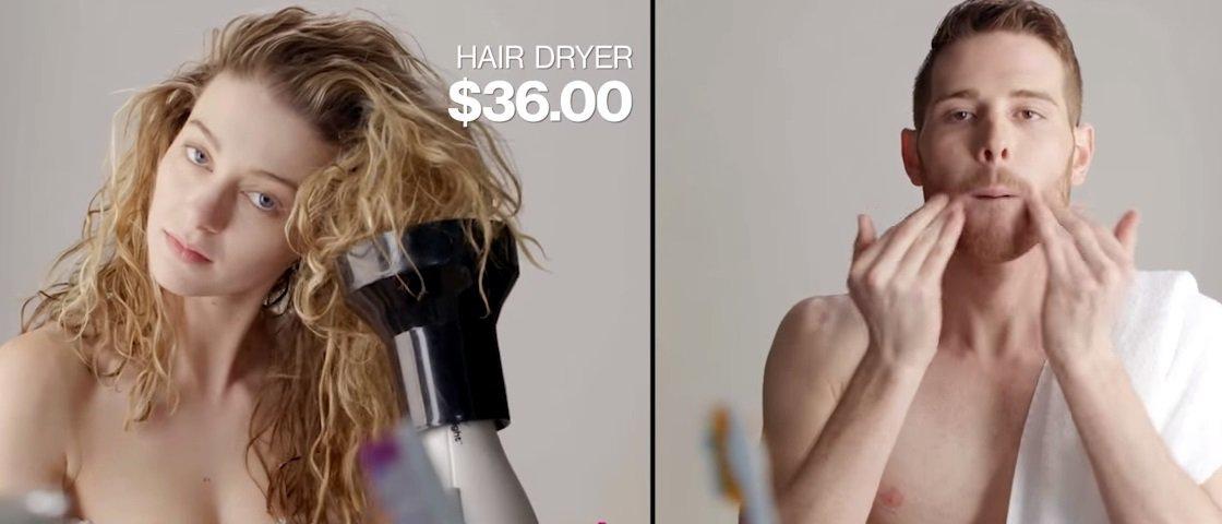 Mulheres gastam mais que homens para ficar limpas só porque... são mulheres
