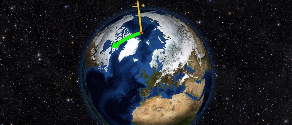Você sabia que o Polo Norte está se movendo em direção à Inglaterra?