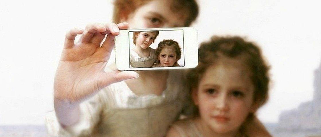 Brasileiro cria 7 fotos e pinturas famosas como se fossem selfies