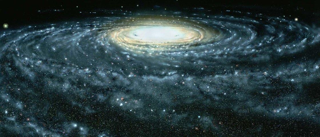 Galáxia enorme é descoberta orbitando ao redor da Via Láctea