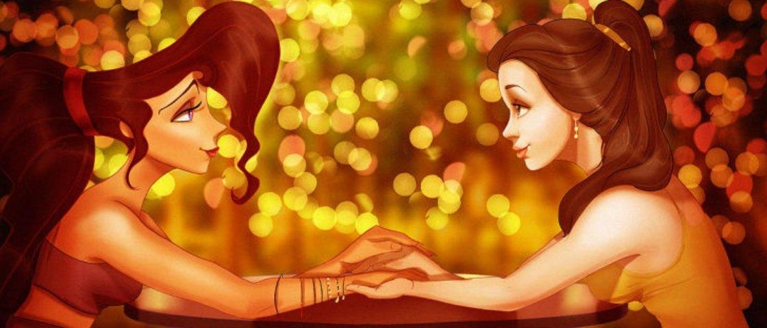 Como seria se as princesas da Disney se apaixonassem umas pelas outras?