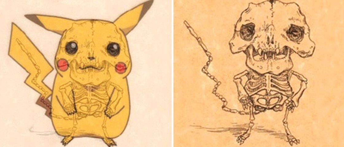 Veja como seria o esqueleto de 15 personagens de desenhos animados