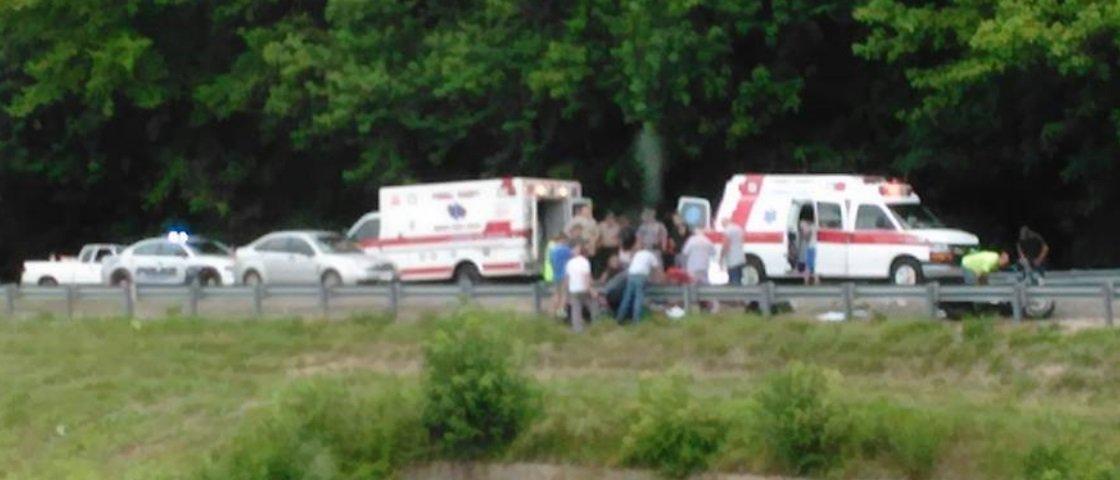 Foto de acidente supostamente registra espírito de vítima saindo do corpo