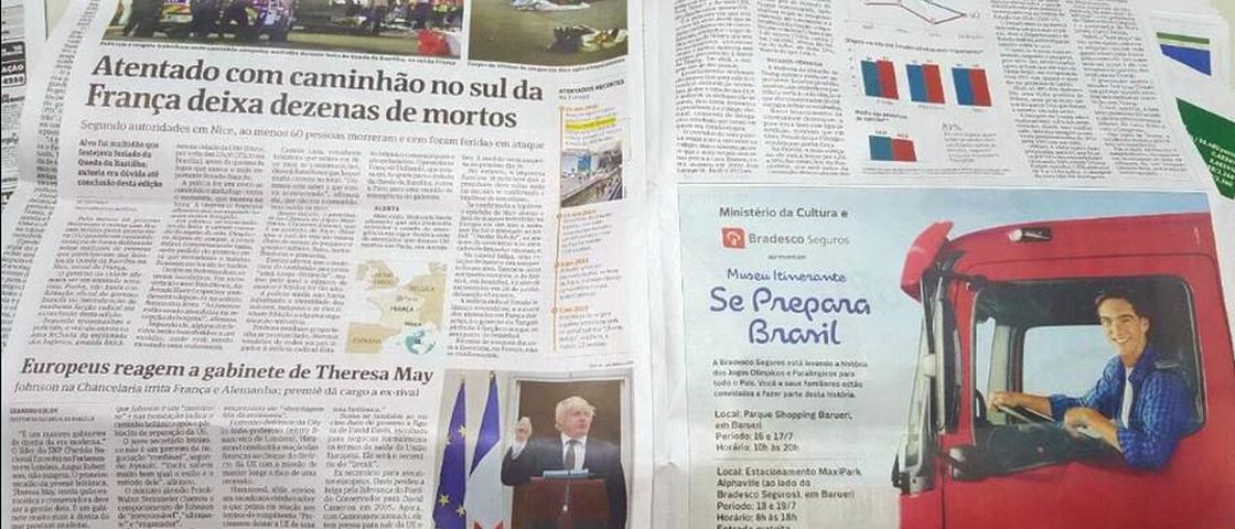 Atentado em Nice: anúncio de mau gosto da Folha de S. Paulo é real?