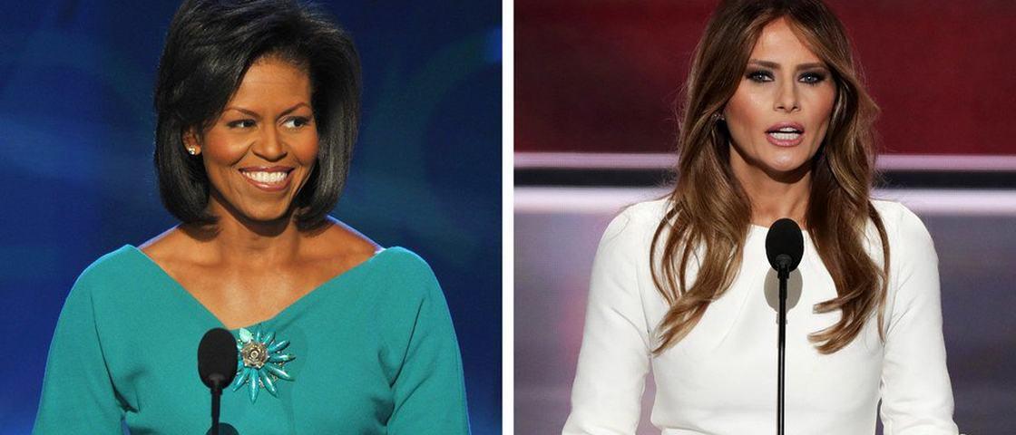 Treta nos EUA: Melania Trump teria plagiado discurso de Michelle Obama
