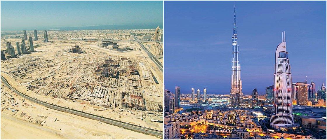 Antes e depois: veja a transformação de 16 lugares ao longo dos anos