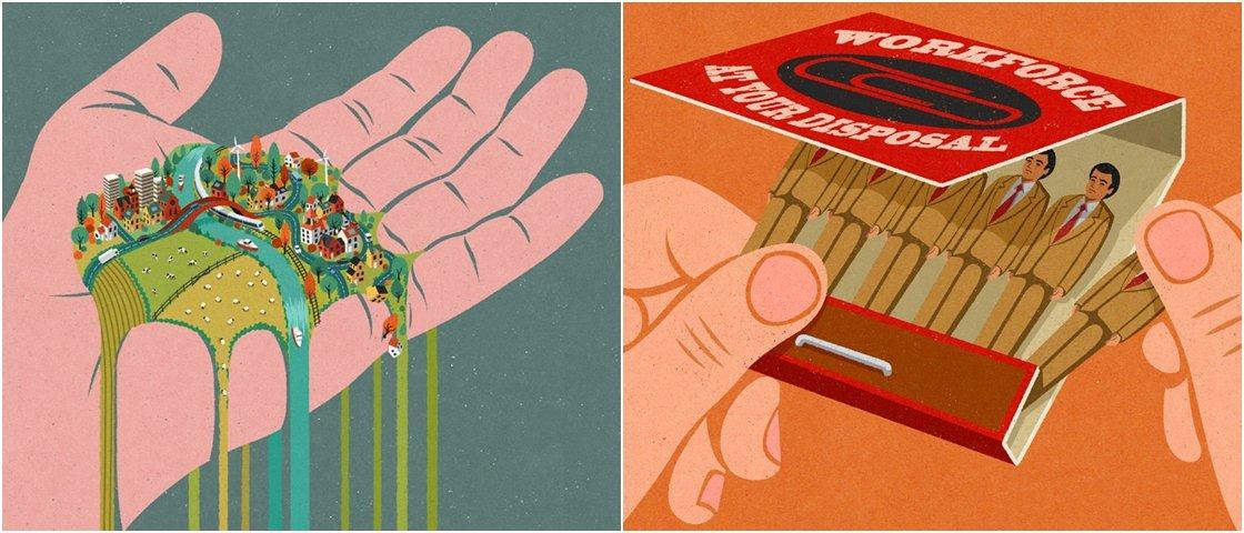 17 ilustrações que vão fazer você questionar o mundo em que vivemos