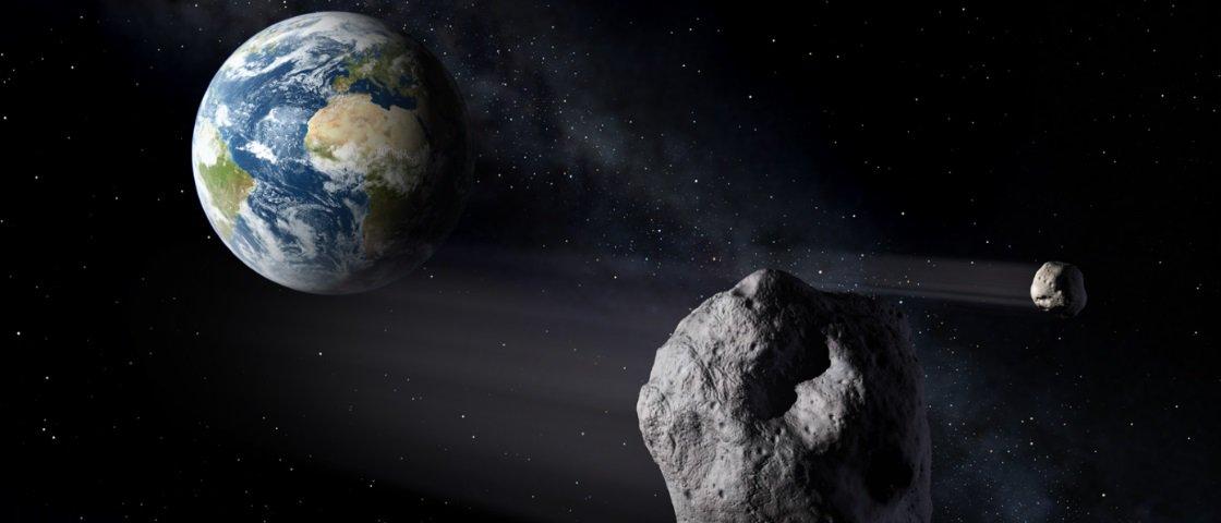 Sabia que um asteroide passou raspando pela Terra no início da semana?