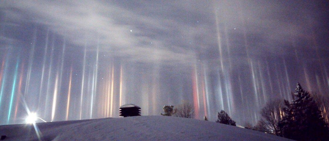 Descubra o que são os misteriosos pilares de luz que surgiram no Canadá