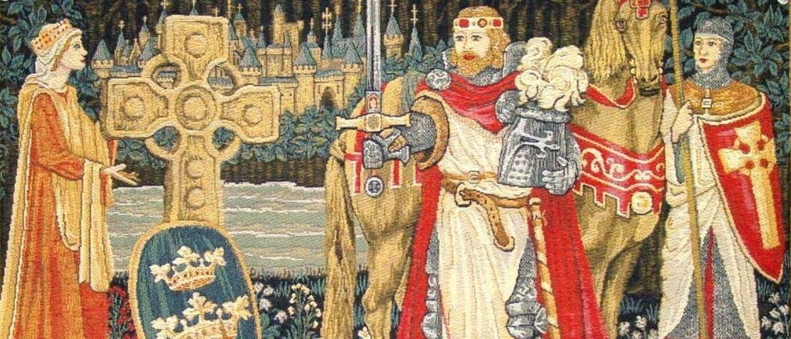 Resultado de imagem para rei arthur guinevere e lancelot