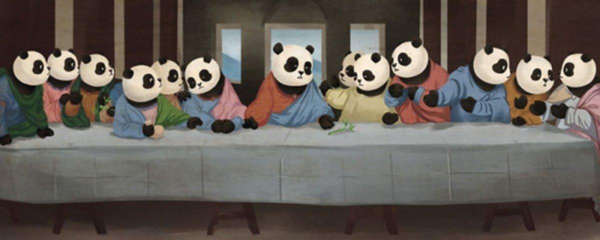 Isto é o que acontece quando pandas invadem 12 obras de arte