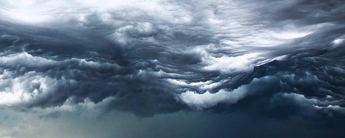 Nuvem prateleira: conheça o fenômeno que faz o céu parecer um tsunami
