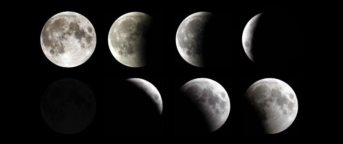 Você conhece todas as oito fases da Lua?