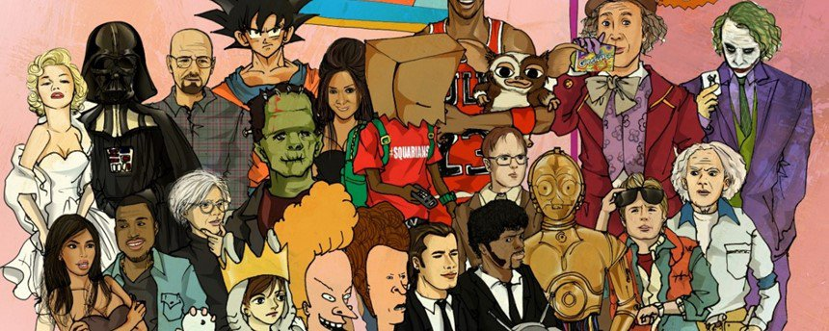 Veja como ficaram ícones da cultura pop misturados com outros personagens
